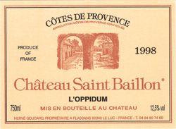 Saint Baillon, cuvée Oppidum