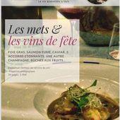 MAGAZINE AU SERVICE DU VIN - METS ET VINS DE FÊTE - Emmanuel Delmas, Sommelier & Consultant en vins, Paris