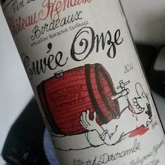 Un très joli vin bio bordelais, à prix riquiqui, délicieux comme tout offert par le vigneron lui-même, de passage sur Biscarrosse-plage