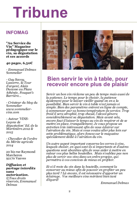 LE VIN & SON SERVICE - LE NOUVEAU MAGAZINE EN PDF