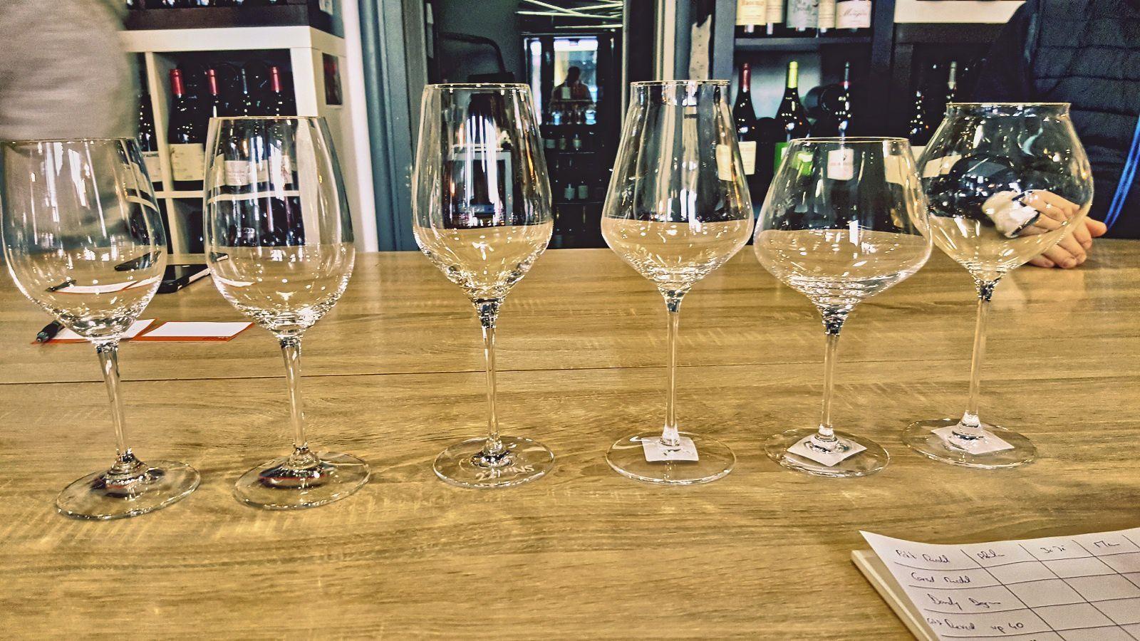 La forme des verres joue un rôle prépondérant dans la perception du vin