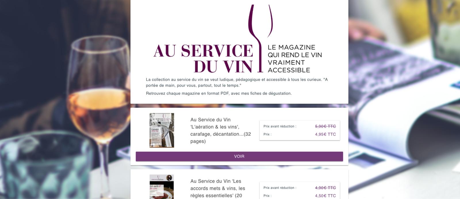 La boutique Au Service du Vin est en ligne !