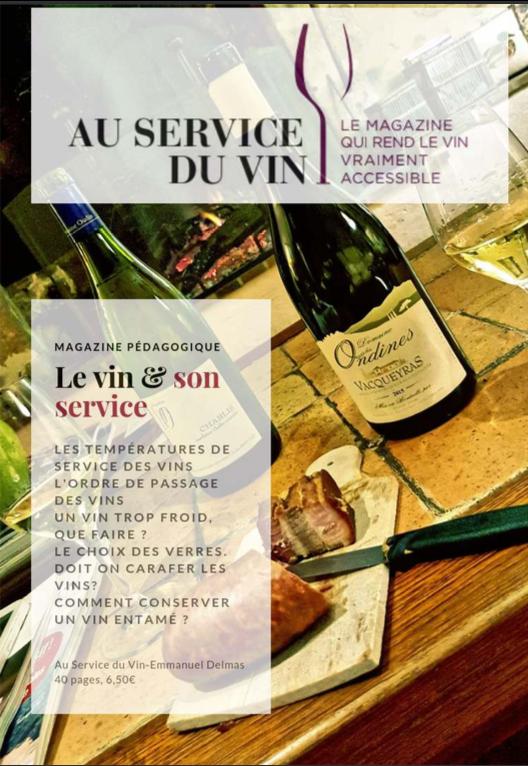 Voici le 5è opus de cette fantastique série pédagogique 'le vin & son service'