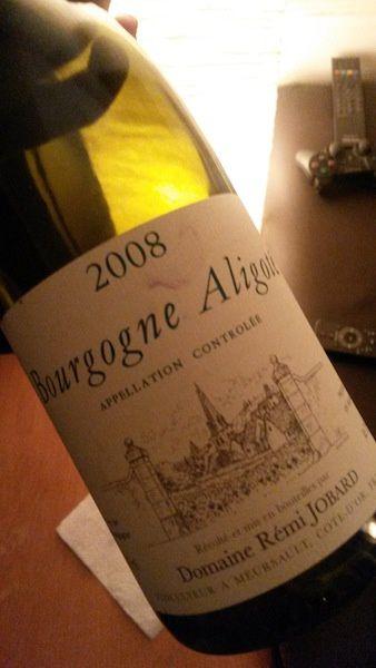 Bourgogne Aligoté 2008, Rémi Jobard