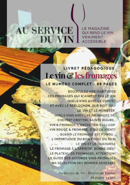Le magazine PDF exceptionnel de 88 pages sur le vin et les fromages