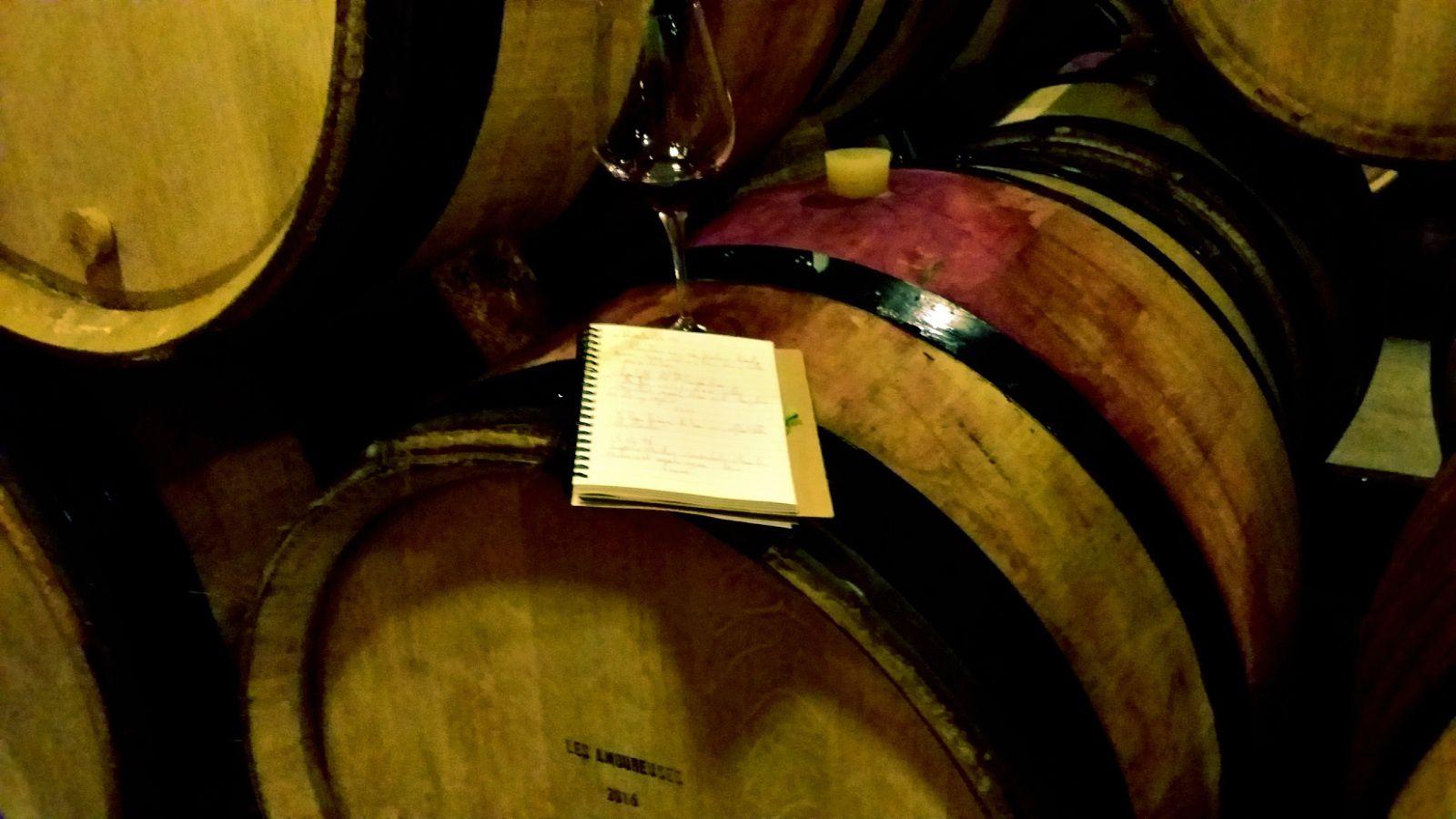 La dégustation chez Emmanuel Rouget fut l'occasion de mieux cerner les vins mais aussi le personnage...