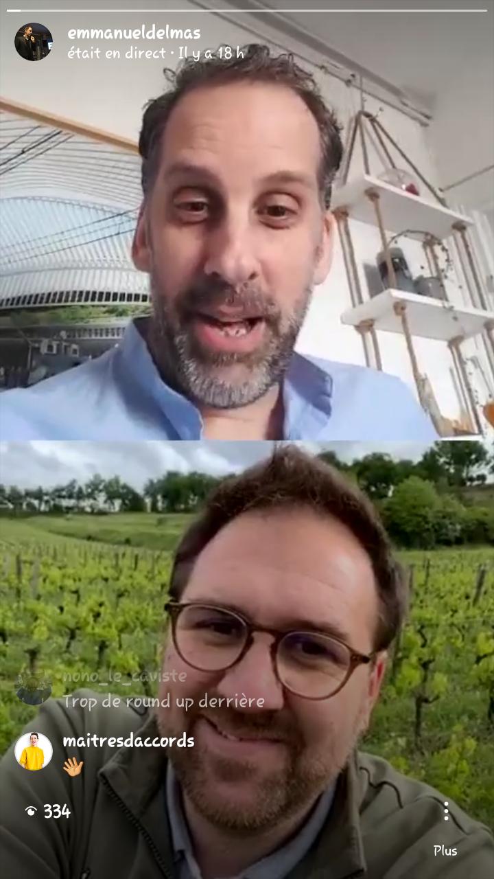 Instagram Live dans les vignes
