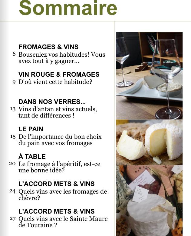 LE VIN & LES FROMAGES - LE MAGAZINE PDF DE 88 PAGES
