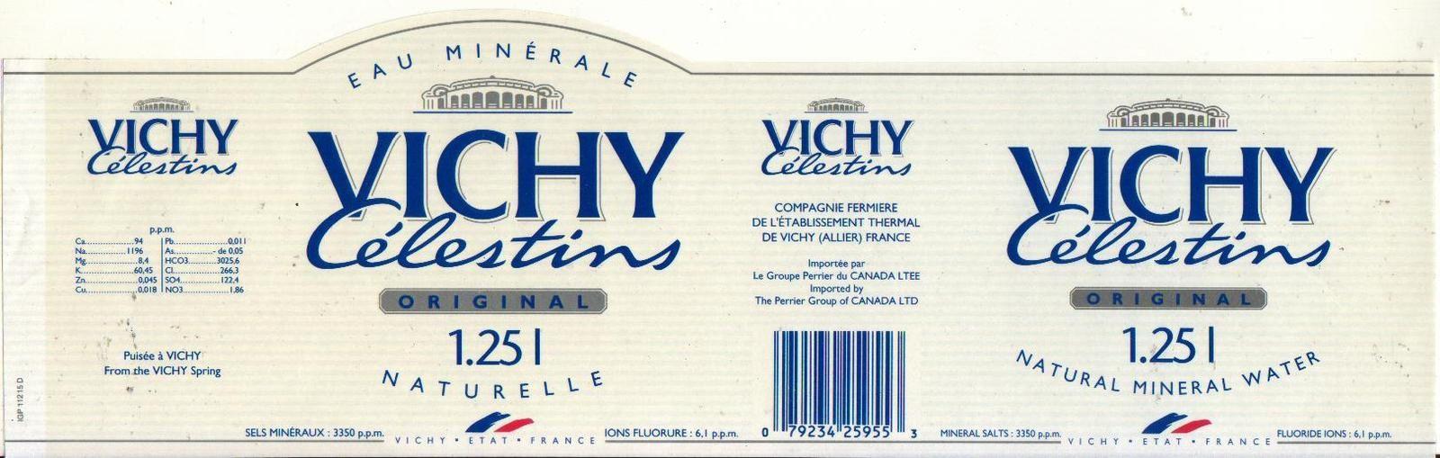 Vichy Célestins, une eau aux saveurs très particulières quand même...