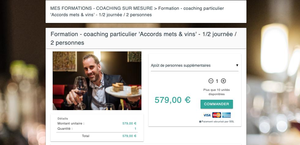 Coaching sur le vin