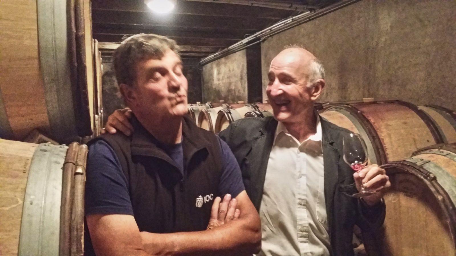 Emmanuel Rouget et Jacky Rigaux, très complices, une amitié qui les lie depuis bien longtemps...