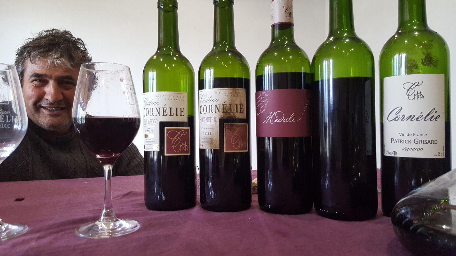 Les vins de Cornélie, de Patrick Grisard...des vins fortement identitaires, juteux, sincères...