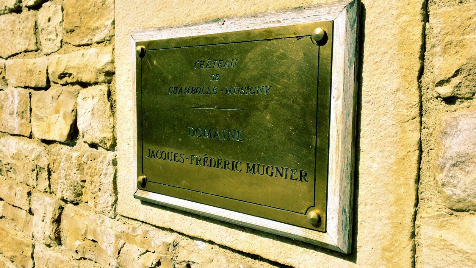 Visite au domaine Jacques Frédéric Mugnier à Chambolle Musigny