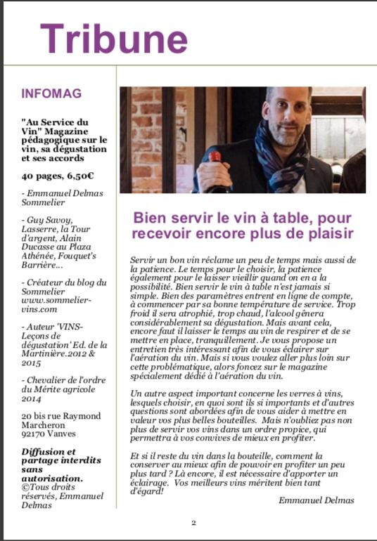 Le magazine Au Service du Vin