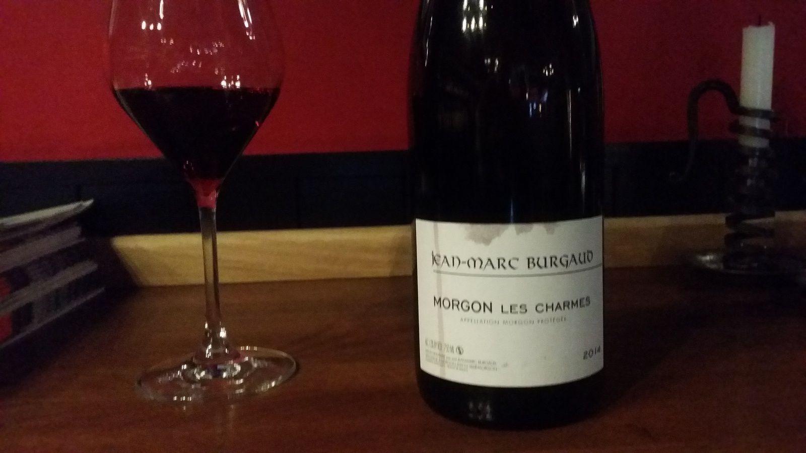 Encore un joli vin Morgon de chez Burgaud...