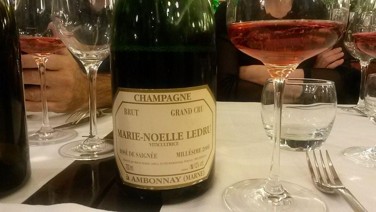 Sublime rosé de saignée de marie Noelle Ledru, à Ambonnay