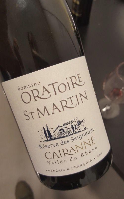 Le Cairanne de l'Oratoire Saint Martin, un vin si réconfortant