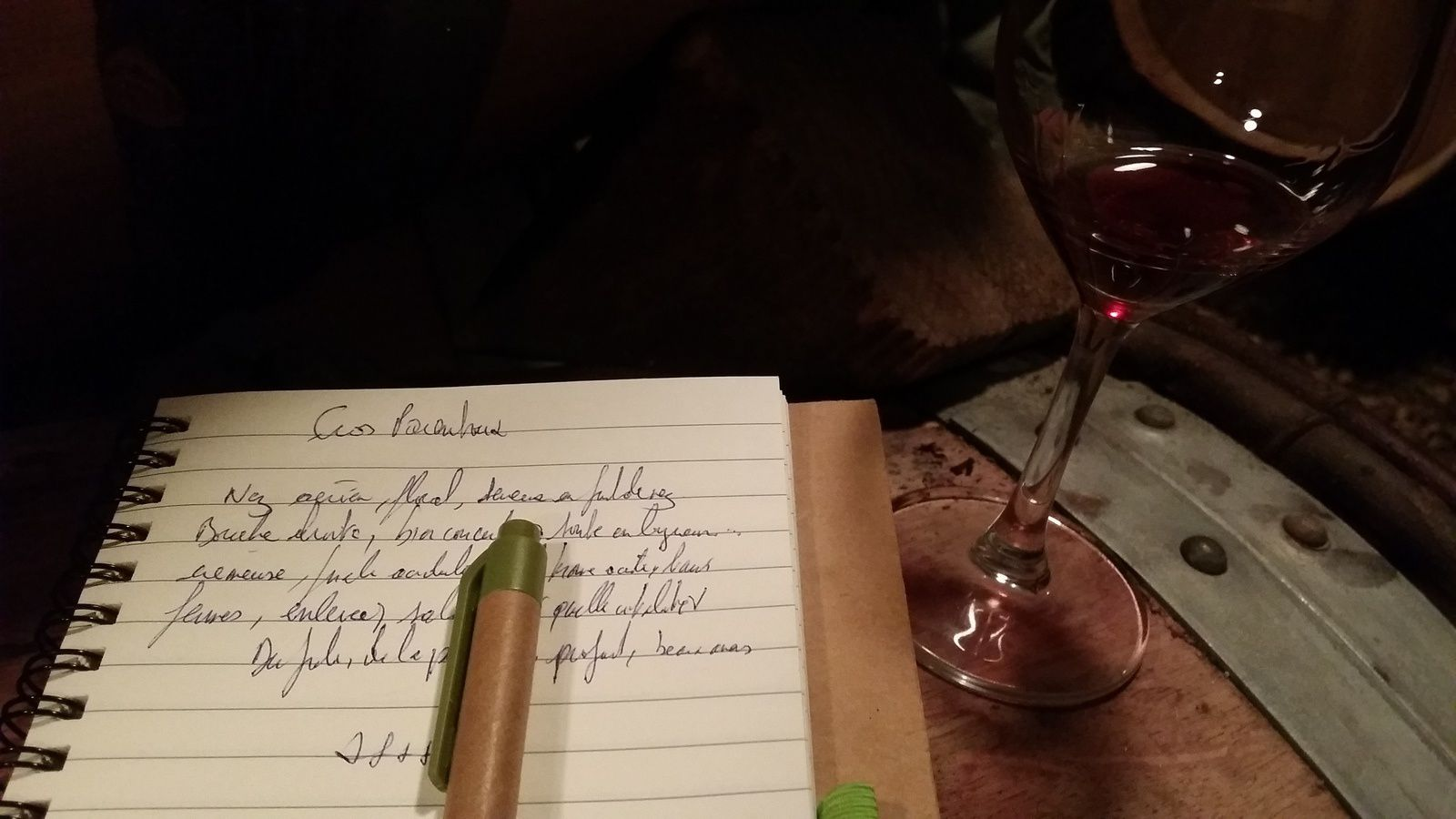 Le Cros Parentoux 2015 fut le point d'orgue de la dégustation chez Emmanuel Rouget...