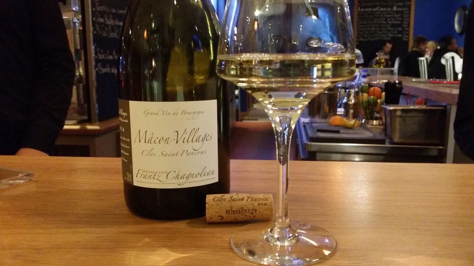 Mâcon, St Véran ou Pouilly Fuissé, chez Frantz Chagnoleau tous ses vins sont bons!