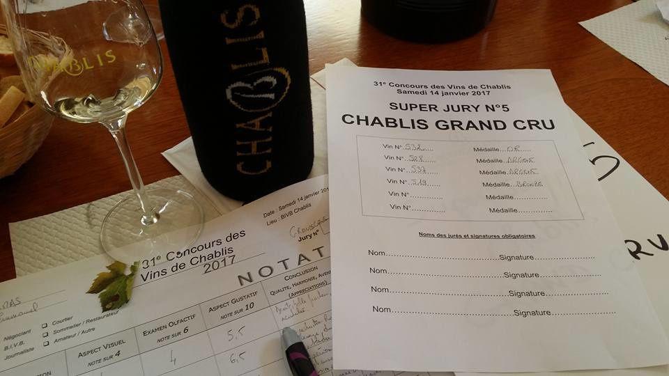 31è concours des vins de Chablis, dont j'étais le président du jury
