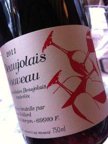 Comme chaque année, Foillard propose un très beau Beaujolais Nouveau!