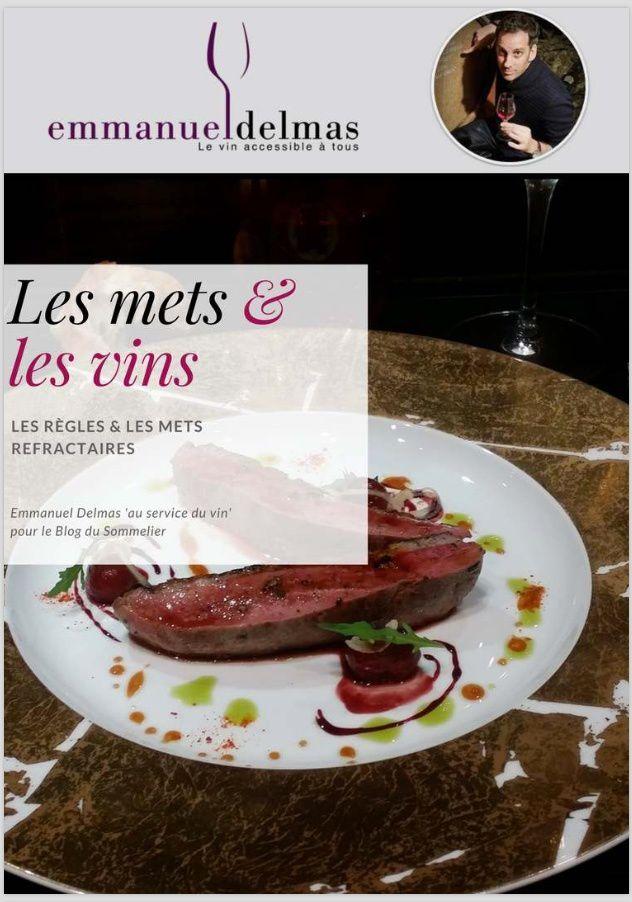 Magazine sur les accords mets et vins de 20 pages, d'Emmanuel Delmas