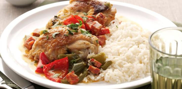 Poulet basquaise et riz ©cuisineactuelle