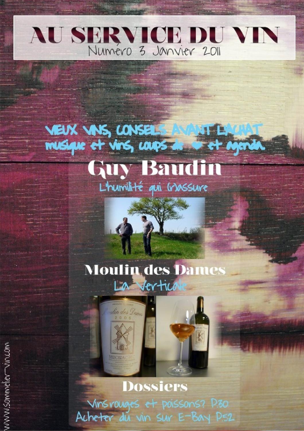 Au Service du vin numéro 3 (88 pages) est en vente au prix de 3,25€