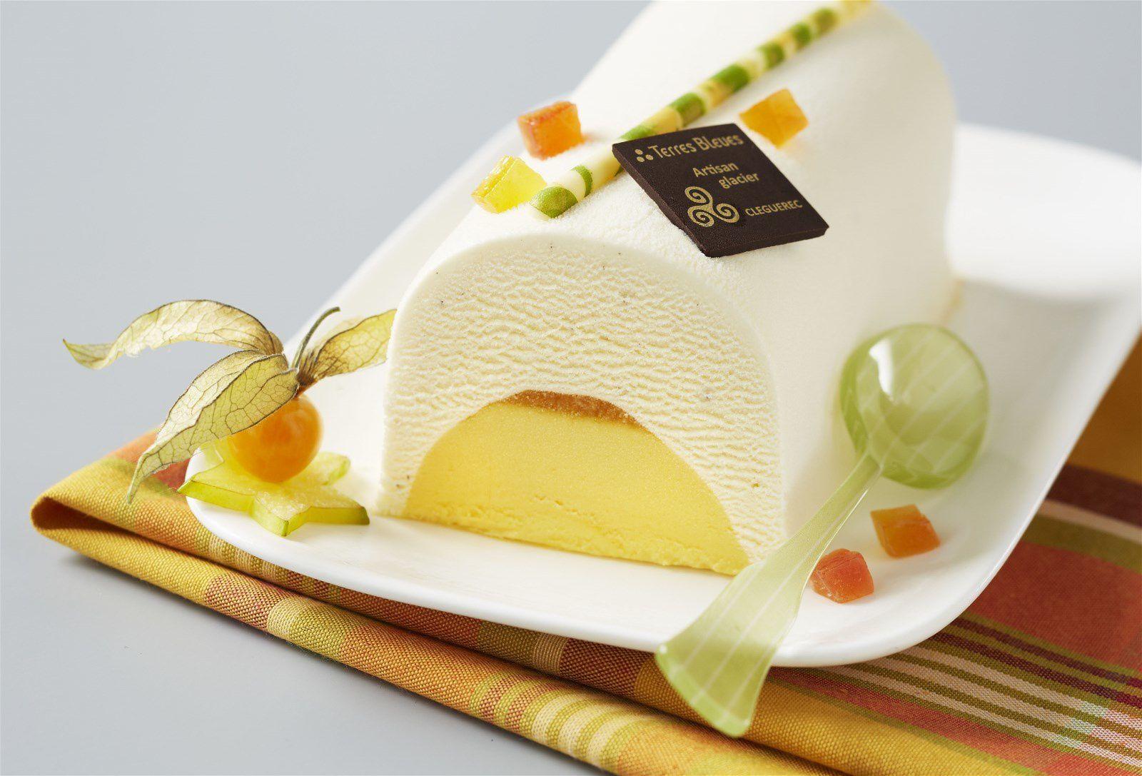 Bûches aux fruits jaunes et exotiques (©Terresbleues.com)