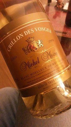 Blanc moelleux de Rhubarbe, 'Crillon des Vosges', michel Moine 2009